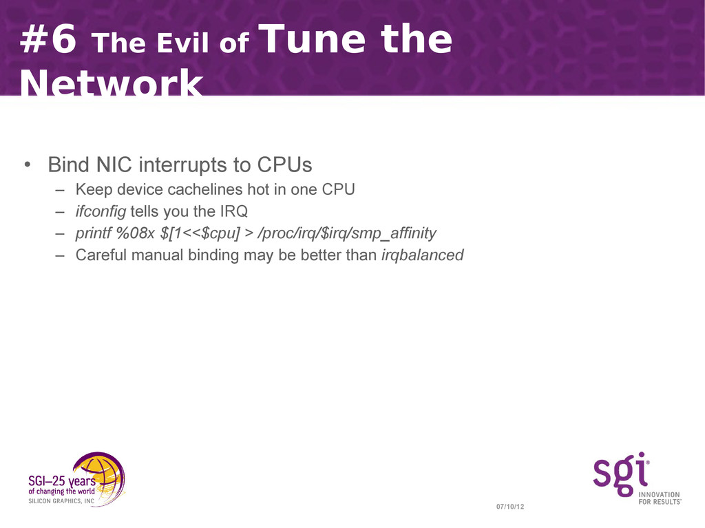 07/10/12 #6 The Evil of Tune the Network • Bind...