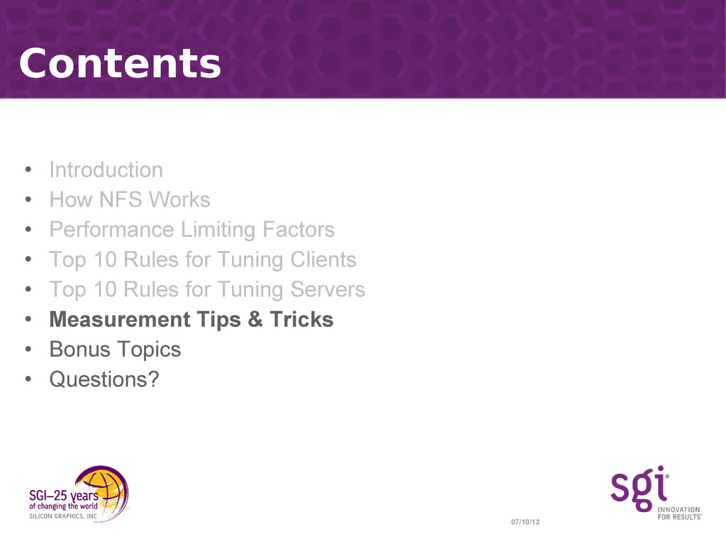 07/10/12 Contents • Introduction • How NFS Work...