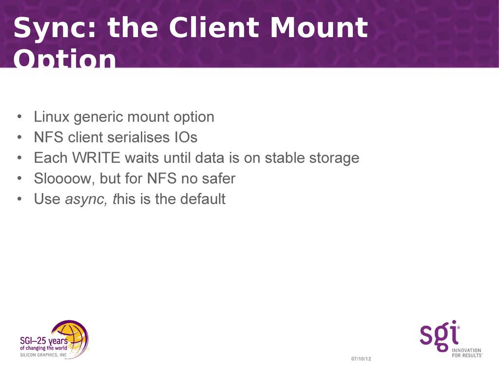 07/10/12 Sync: the Client Mount Option • Linux ...