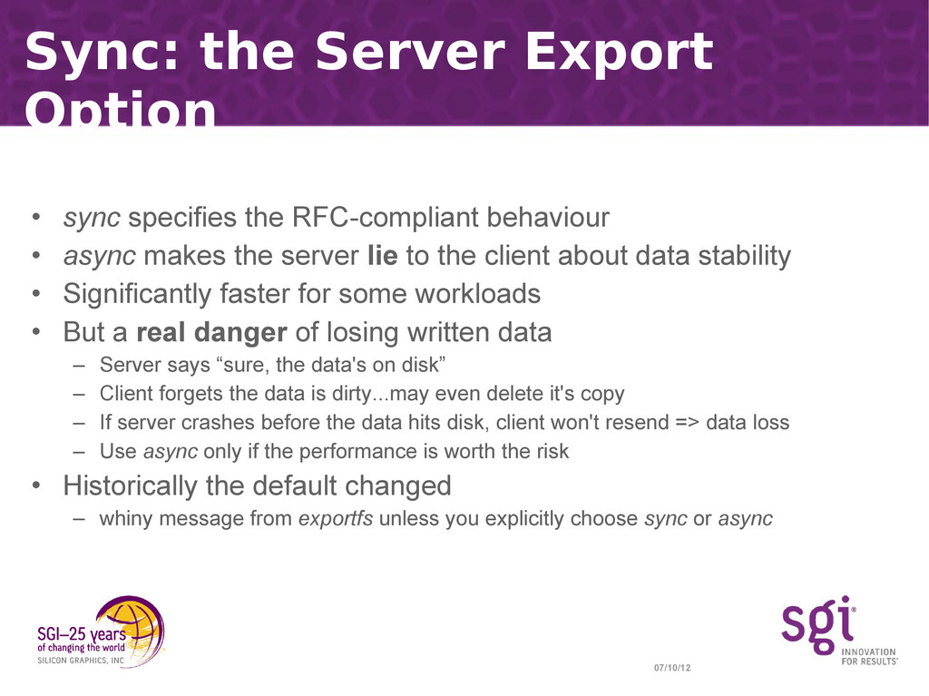 07/10/12 Sync: the Server Export Option • sync ...