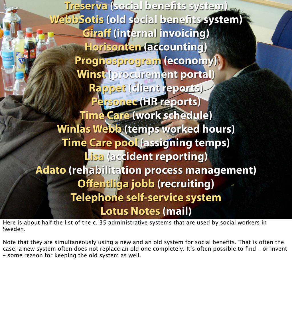 Treserva (social bene ts system) WebbSotis (old...