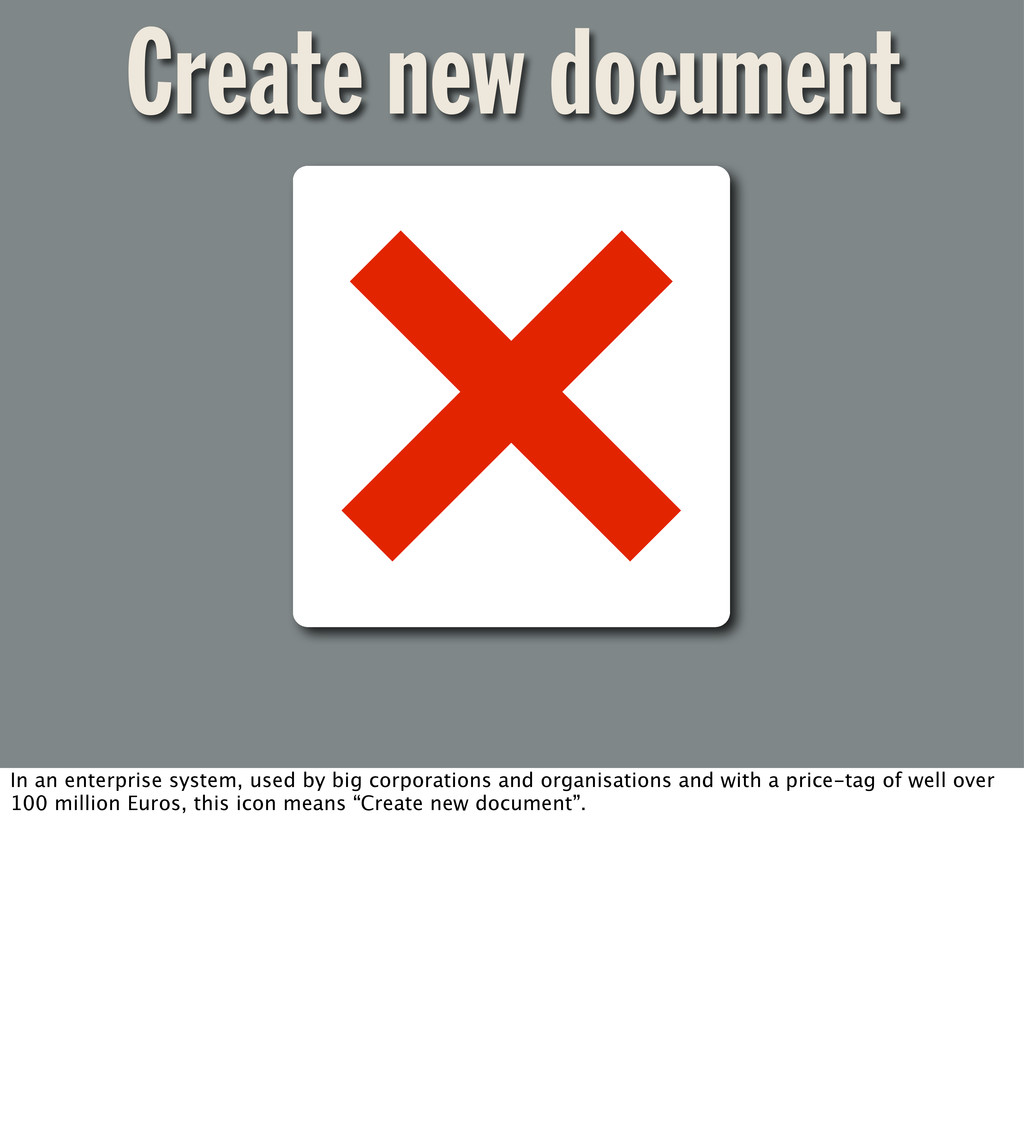 Create new document In an enterprise system, us...