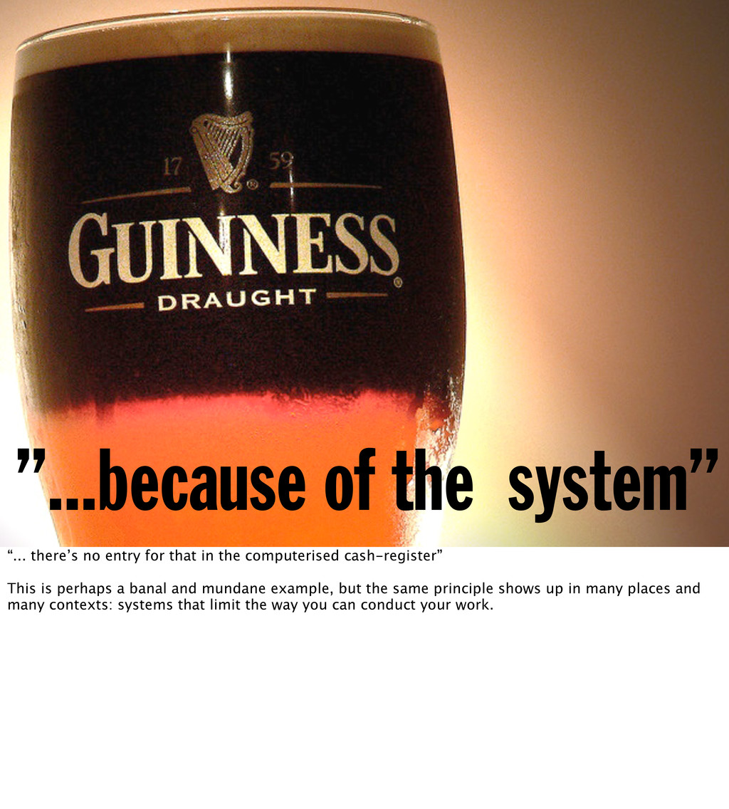 """...because of the system"" ""... there's no entr..."
