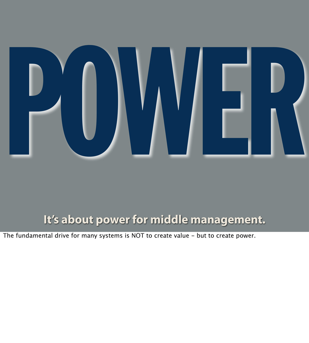 POWER It's about power for middle management. T...