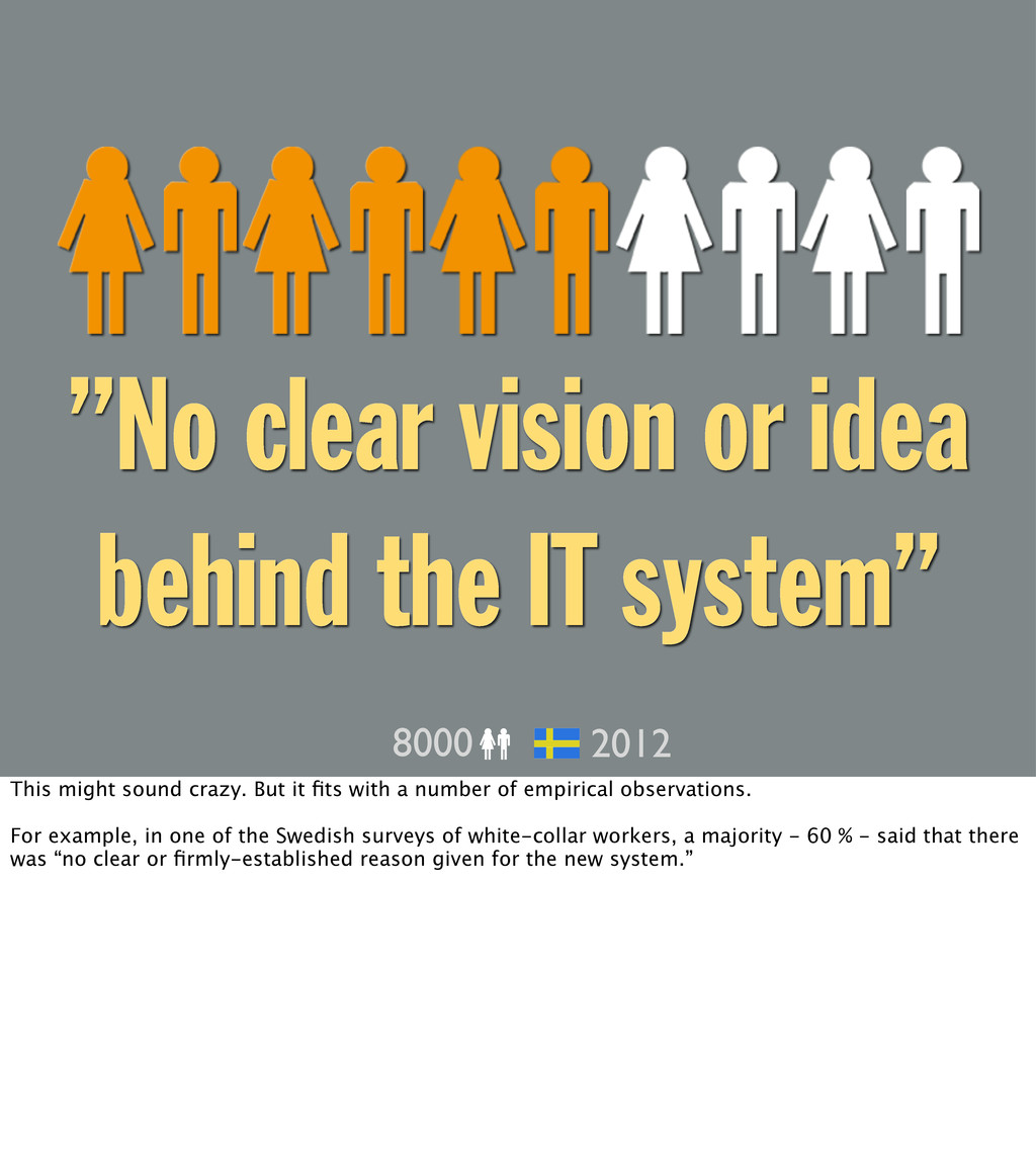 """No clear vision or idea behind the IT system"" ..."