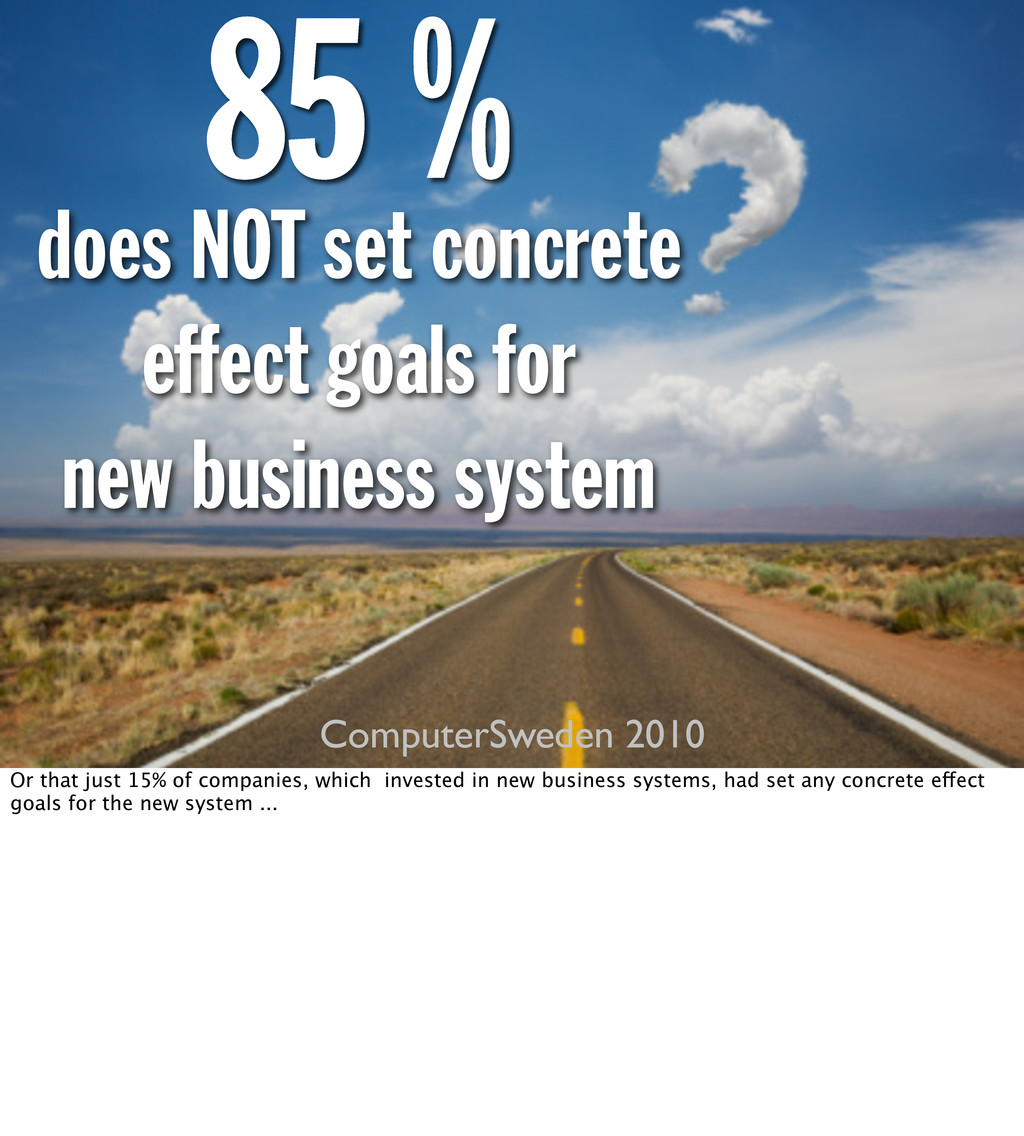 does NOT set concrete effect goals for new busi...