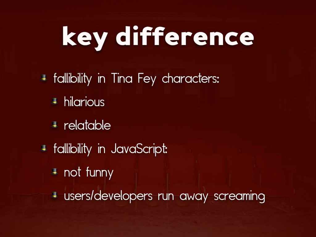 key difference  fallibility in Tina Fey charact...