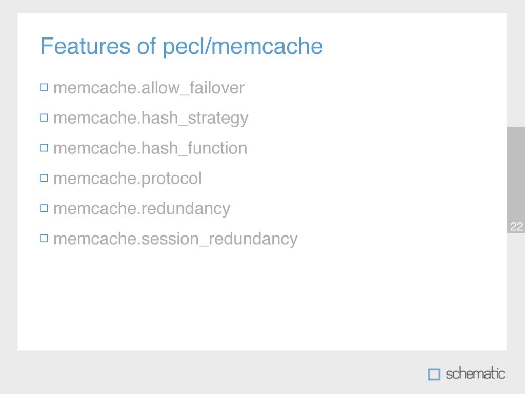 Features of pecl/memcache 22 memcache.allow_fai...