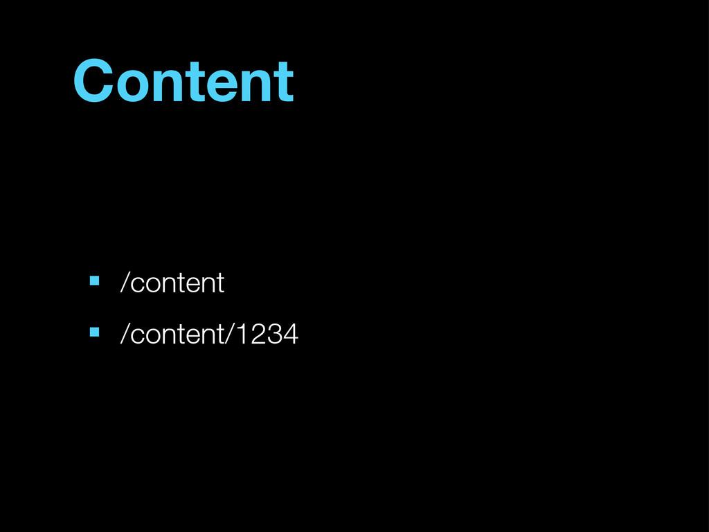 Content ■ /content ■ /content/1234