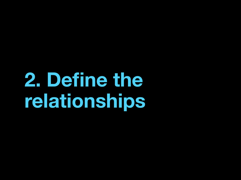 2. Define the relationships