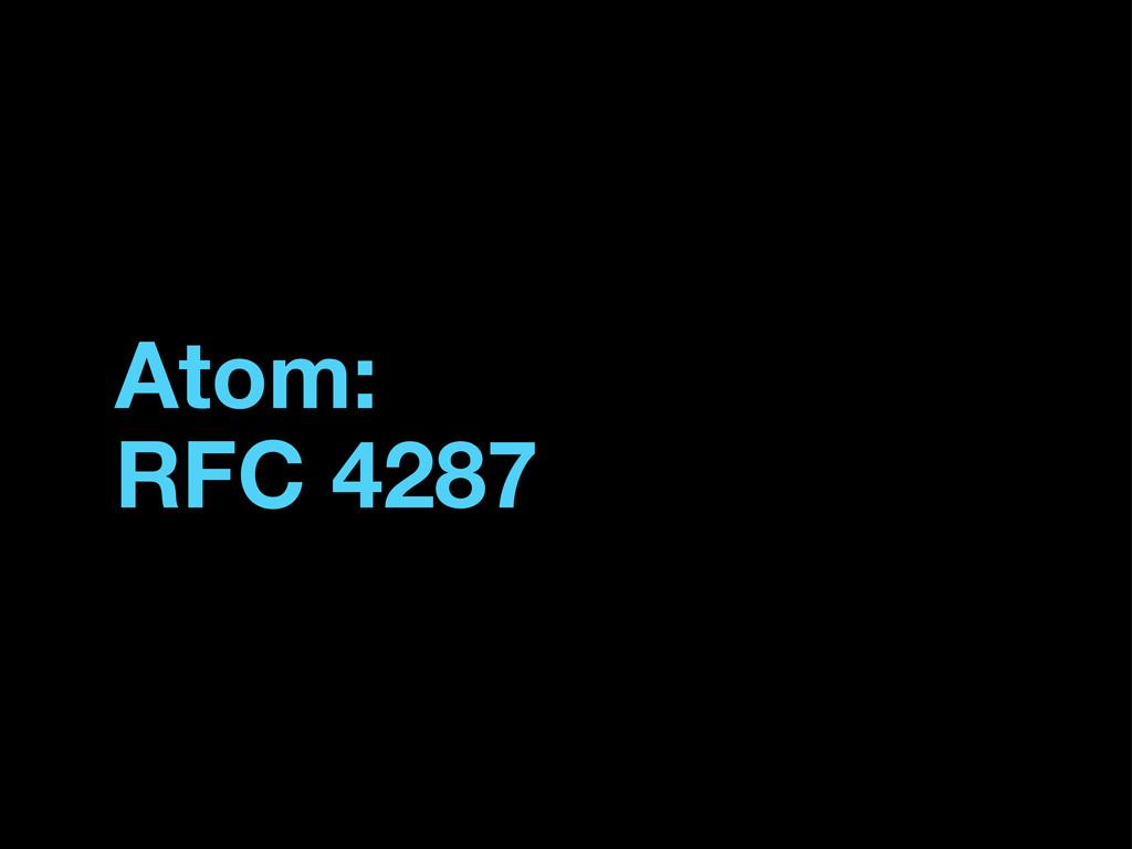 Atom: RFC 4287