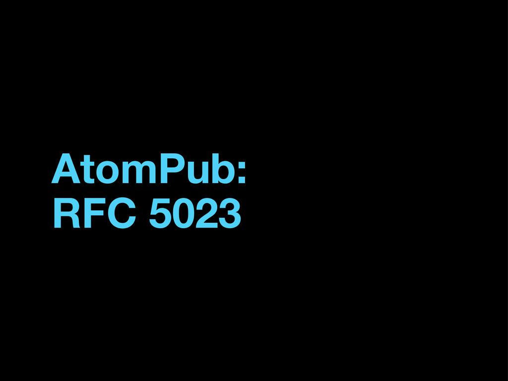 AtomPub: RFC 5023