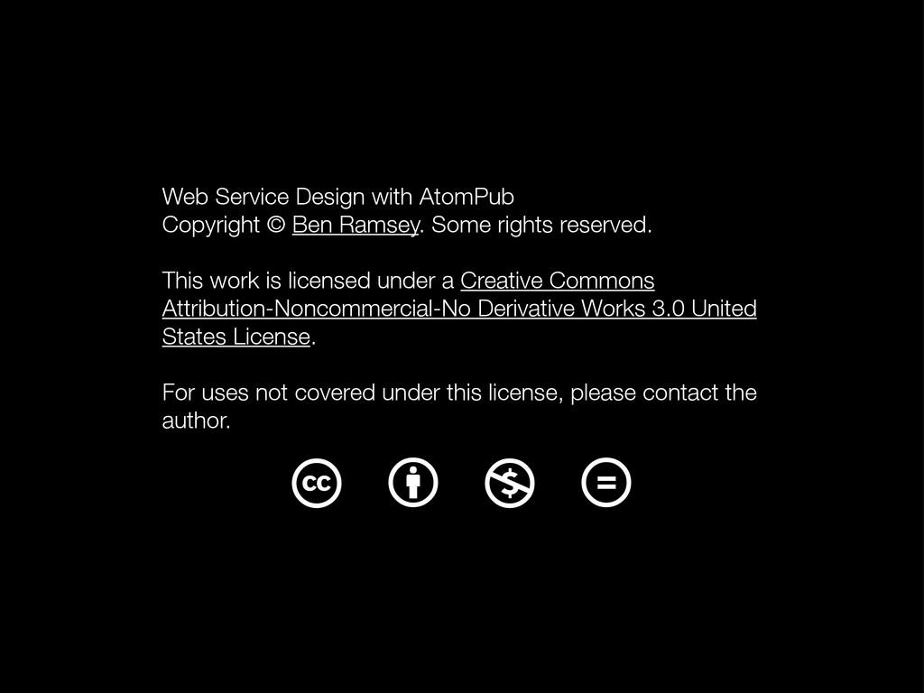 Web Service Design with AtomPub Copyright © Ben...