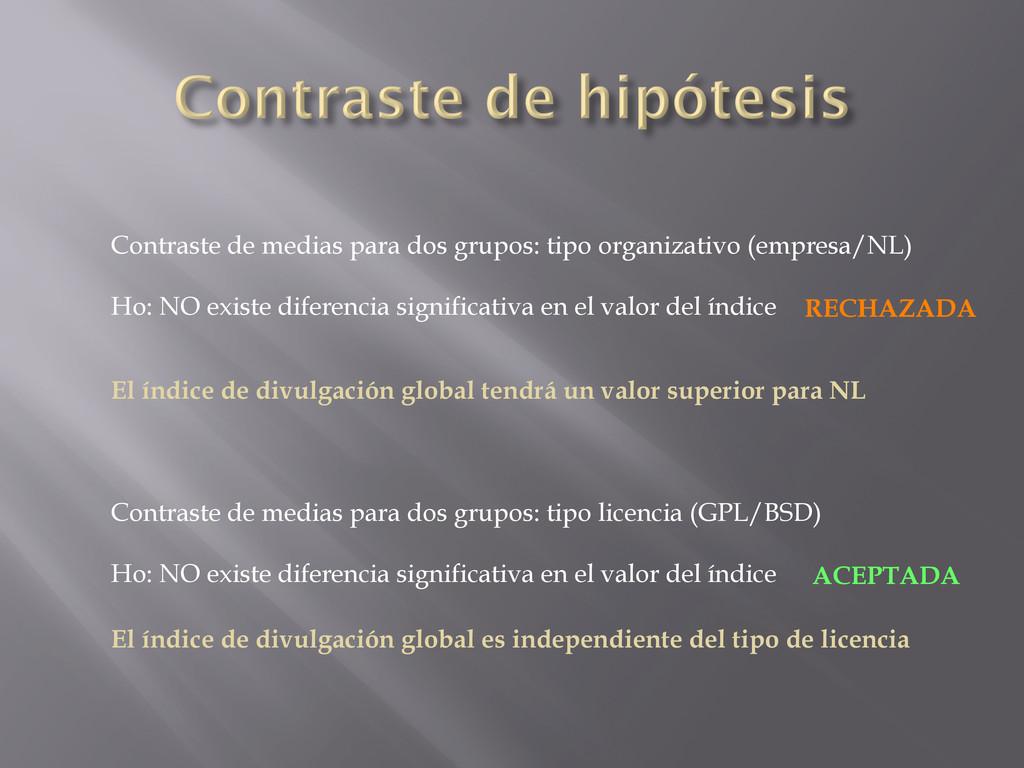 Contraste de medias para dos grupos: tipo organ...