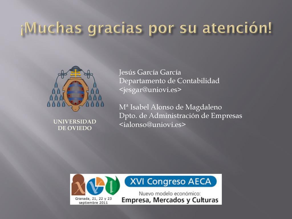 Jesús García García Departamento de Contabilida...
