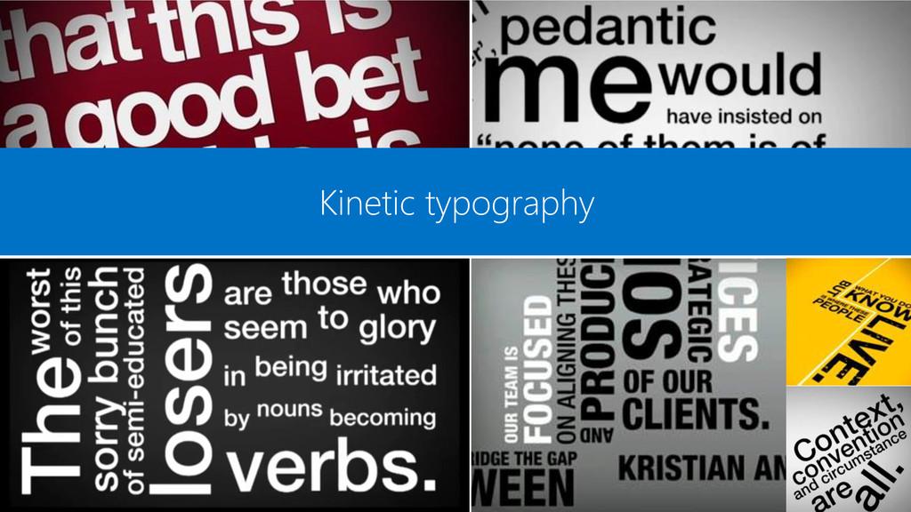 Kinetic typography