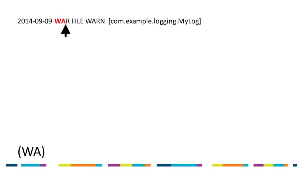(WA) 2014-09-09 WAR FILE WARN [com.example.logg...