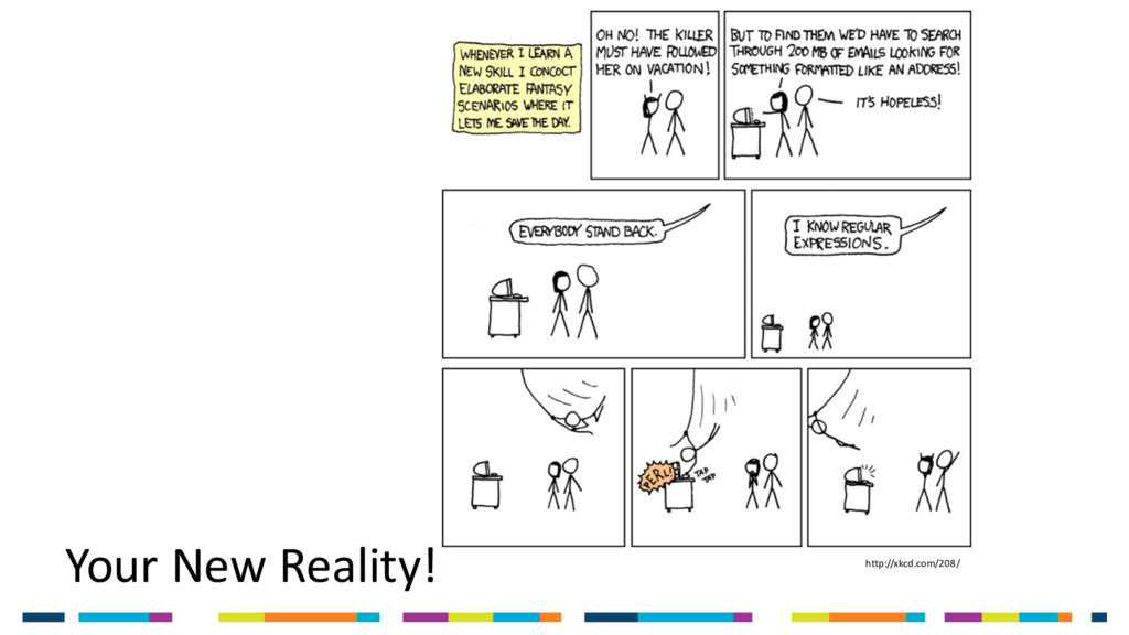 Your New Reality! http://xkcd.com/208/