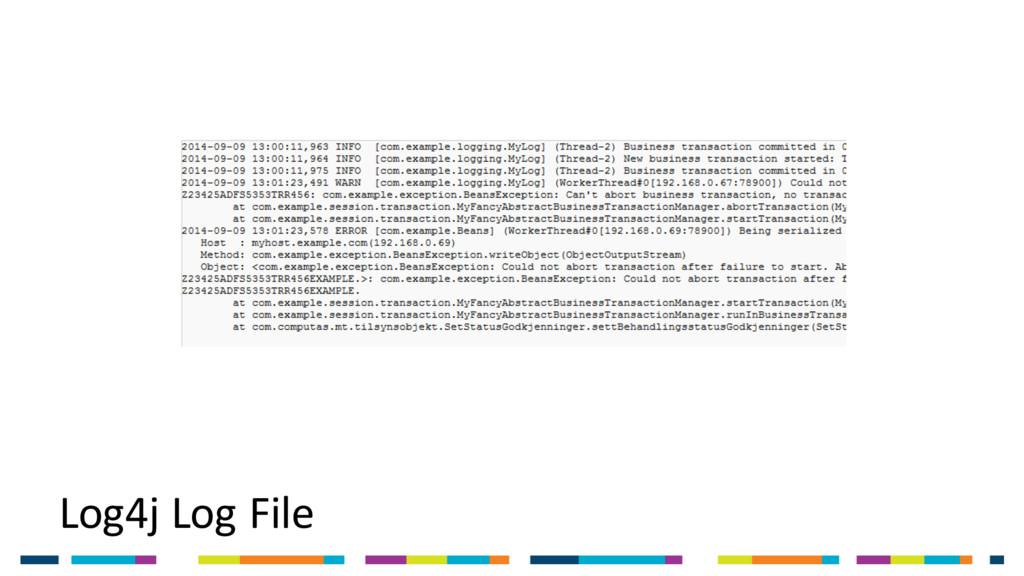 Log4j Log File