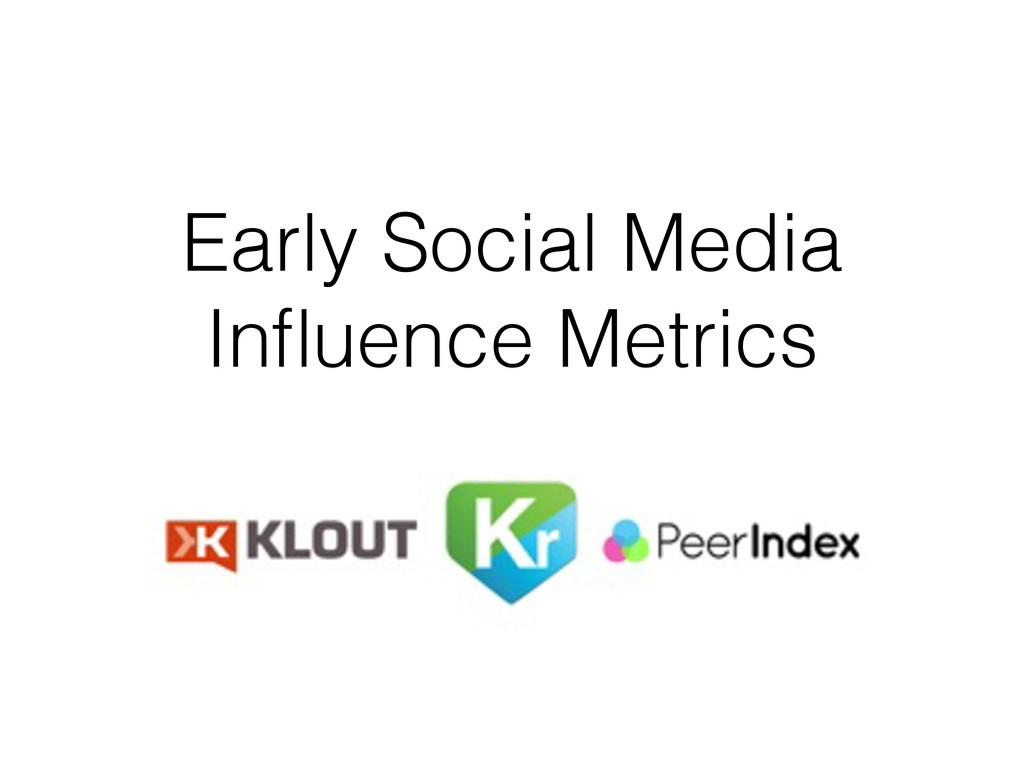 Early Social Media Influence Metrics