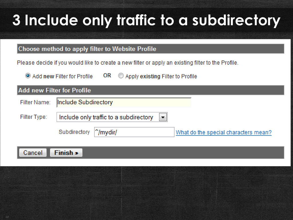 3 Include only traffic to a subdirectory