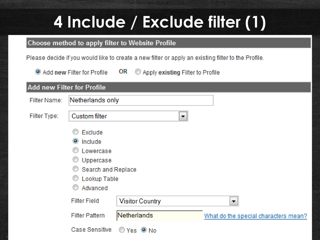 4 Include / Exclude filter (1)