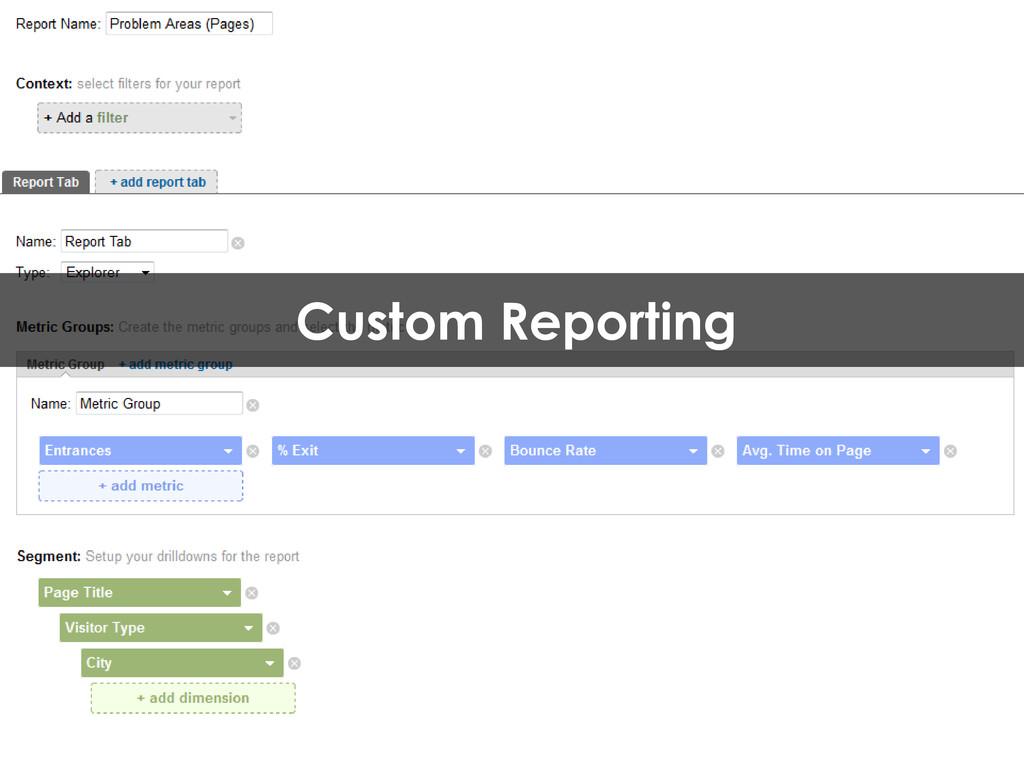 Custom Reporting