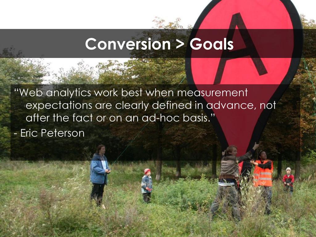 """""""Web analytics work best when measurement expec..."""
