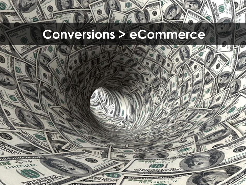 Conversions > eCommerce