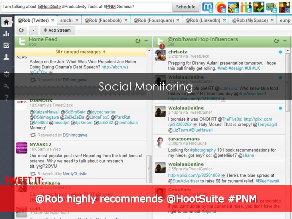 Social Monitoring TWEET IT: