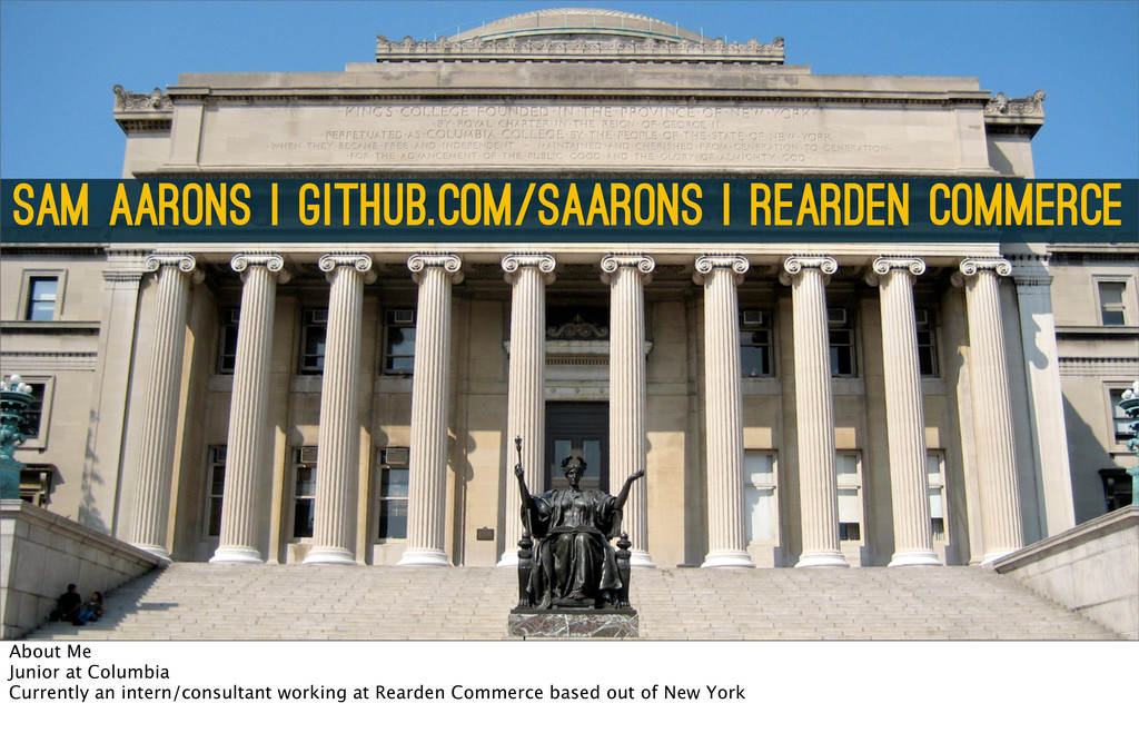 Sam Aarons   github.com/saarons   Rearden Comme...