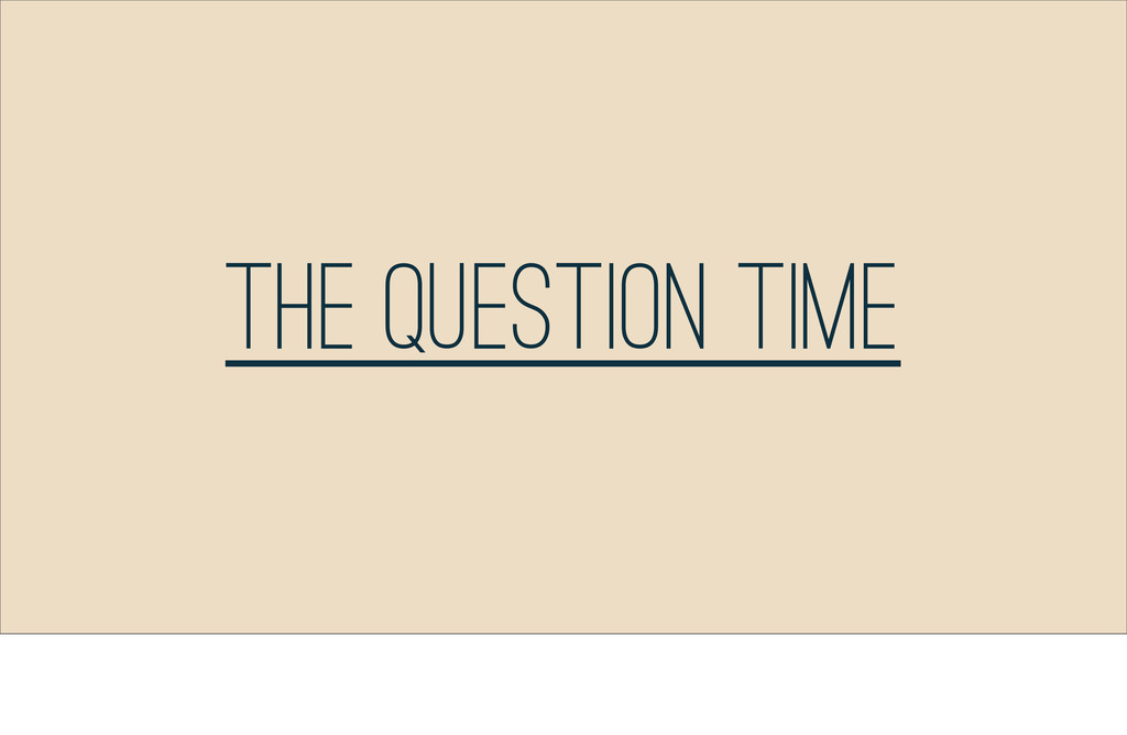 The Question Time