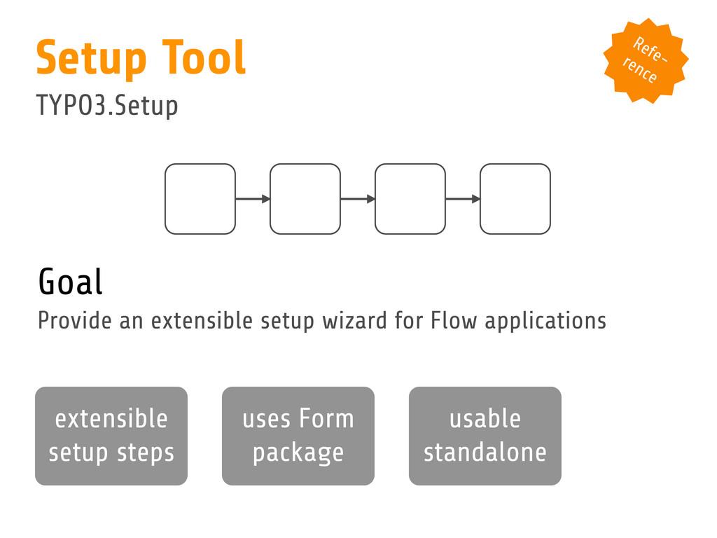 Goal Provide an extensible setup wizard for Flo...