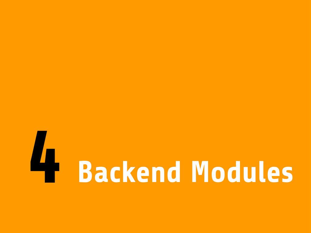 Backend Modules 4