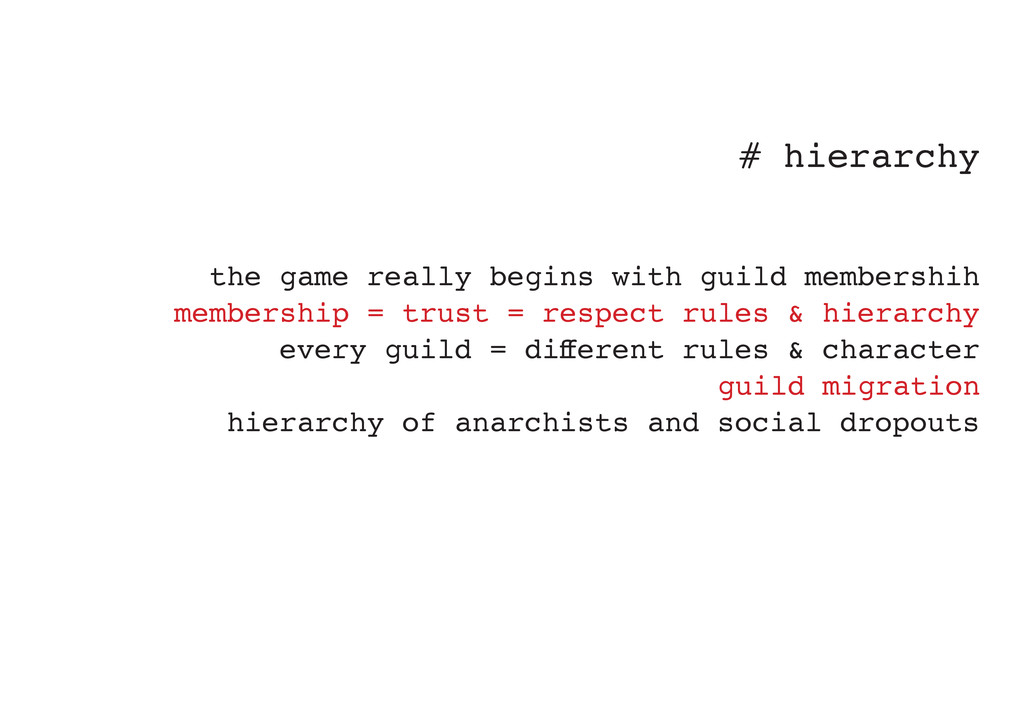 # hierarchy the game really begins with guild m...