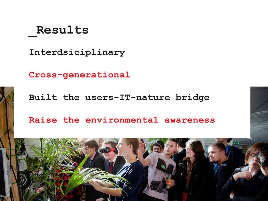 Interdsiciplinary Cross-generational Built the ...