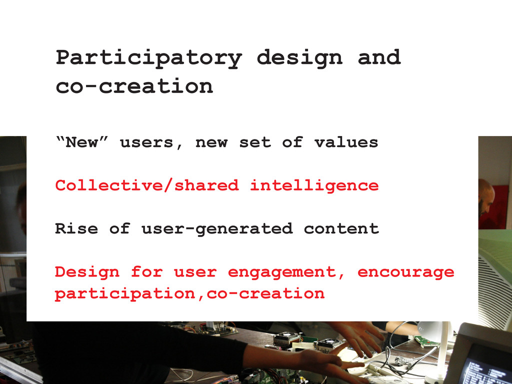 """""""New"""" users, new set of values Collective/share..."""