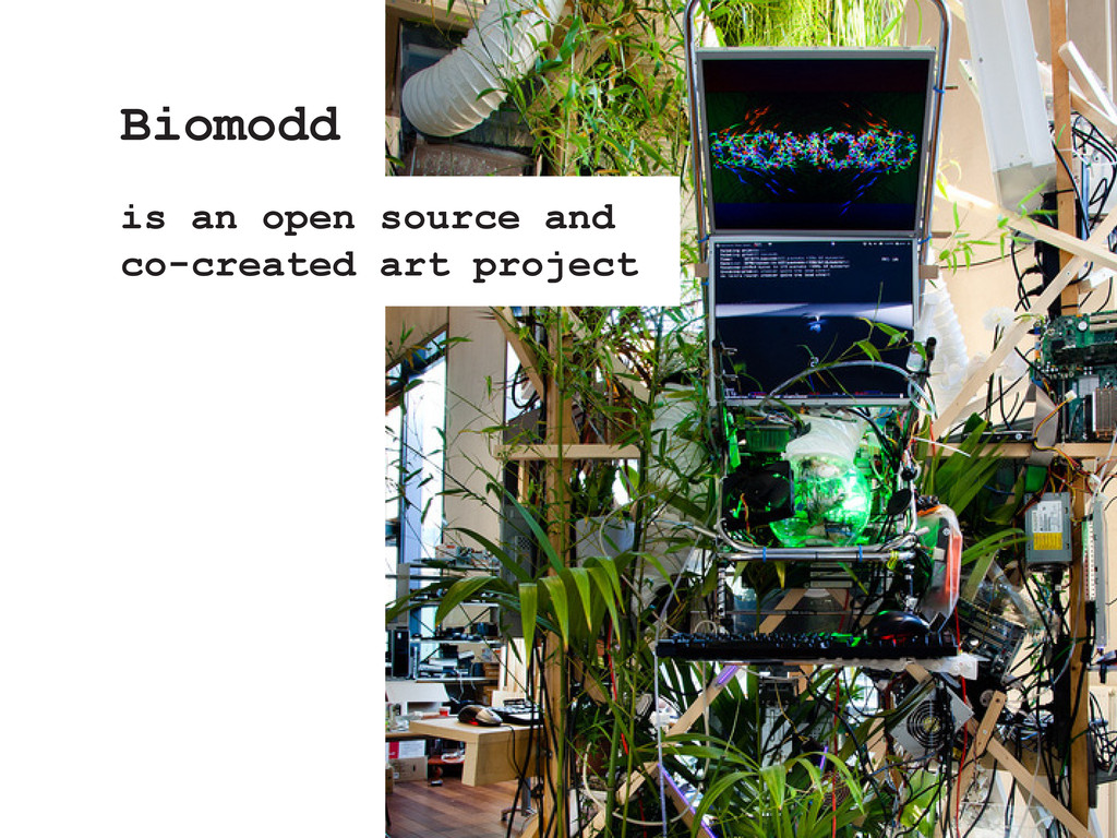 Biomodd is an open source and co-created art pr...