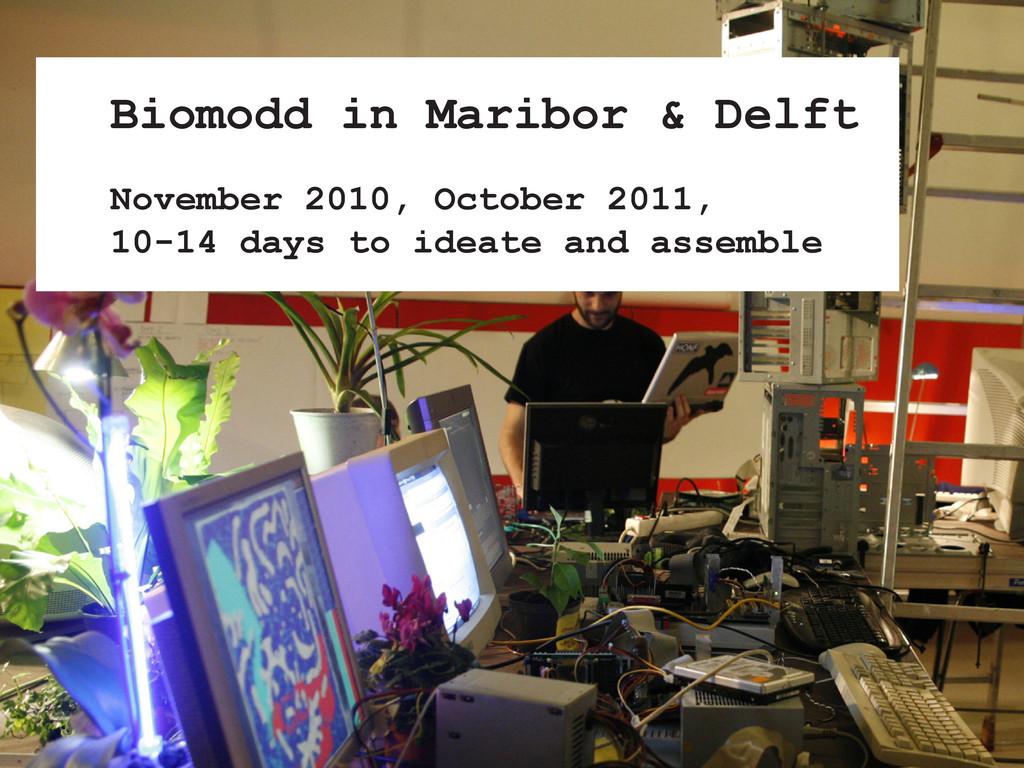 Biomodd in Maribor & Delft November 2010, Octob...