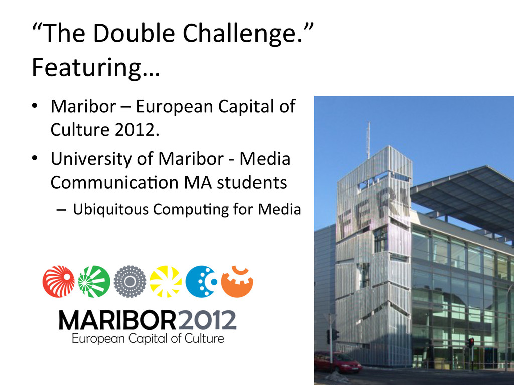"""""""The Double Challenge.""""  Featuring… ..."""