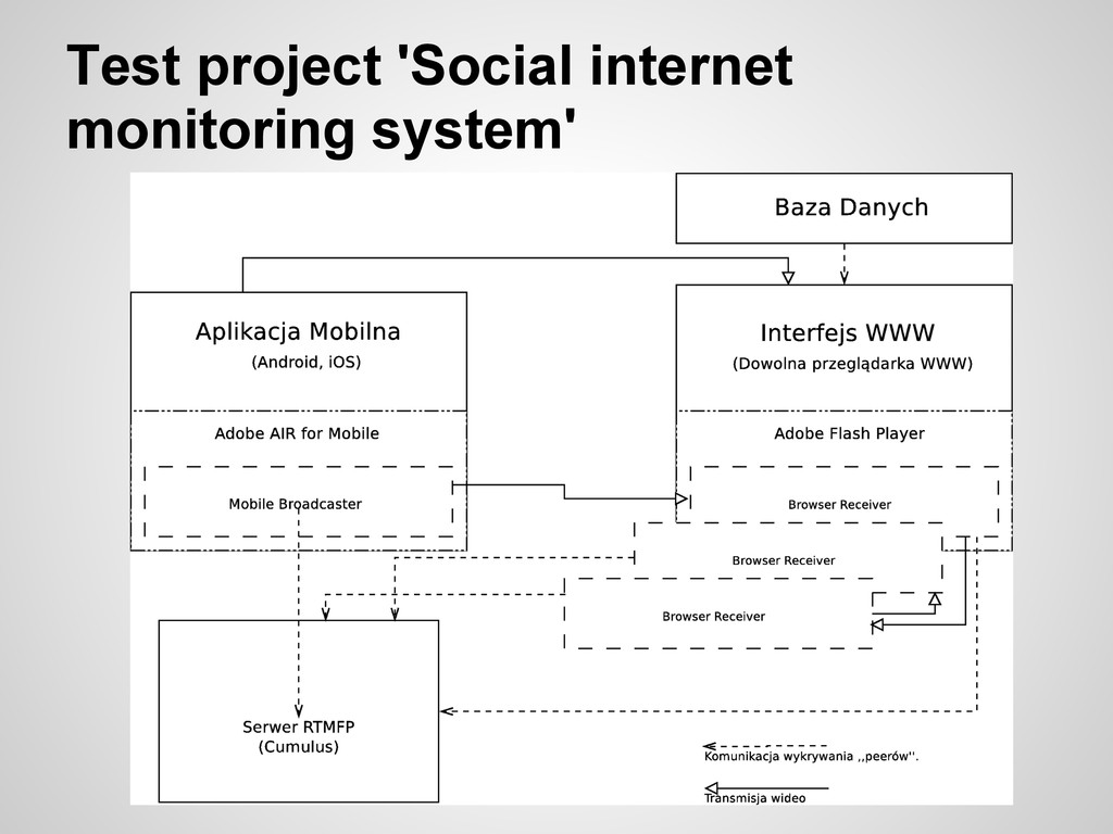 Test project 'Social internet monitoring system'