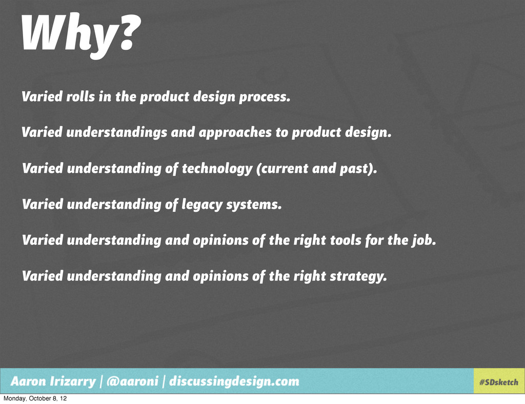 Why? Varied understandings and approaches to pr...