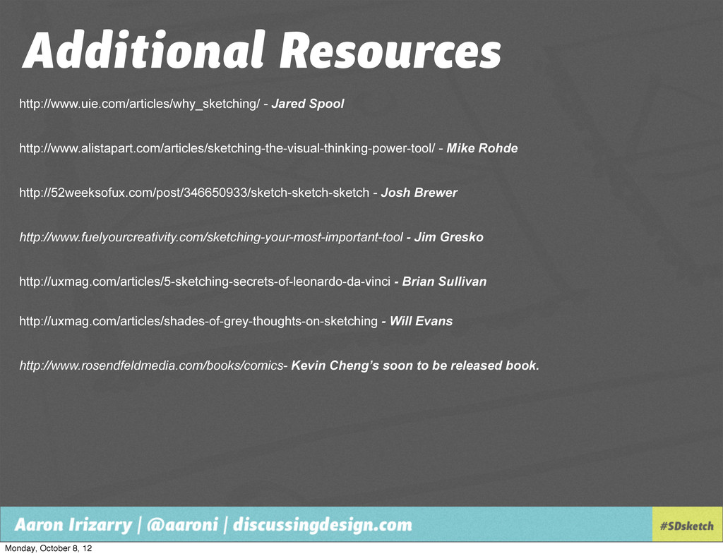 Additional Resources http://www.uie.com/article...