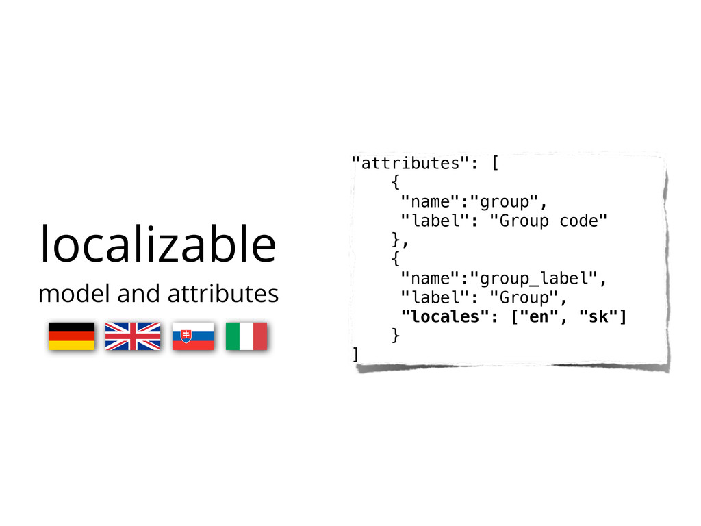 """localizable model and attributes """"attributes"""": ..."""