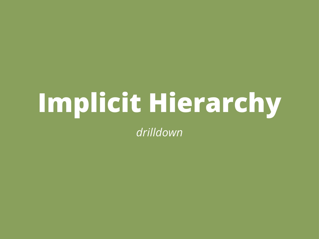 Implicit Hierarchy drilldown