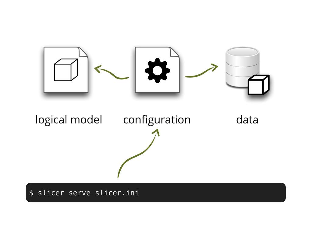 w logical model configuration data $ slicer serv...