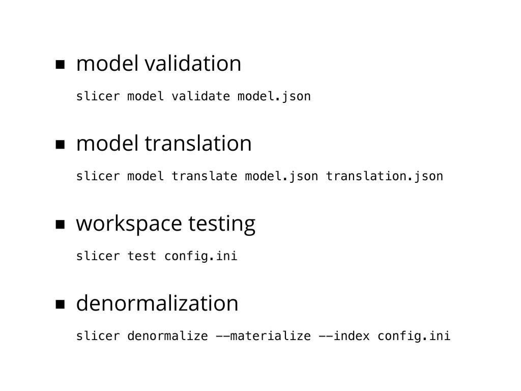 ■ model validation slicer model validate model....