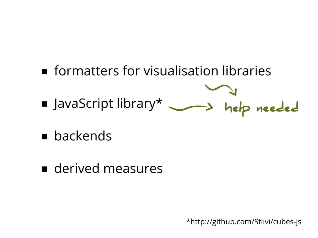 ■ formatters for visualisation libraries ■ Java...