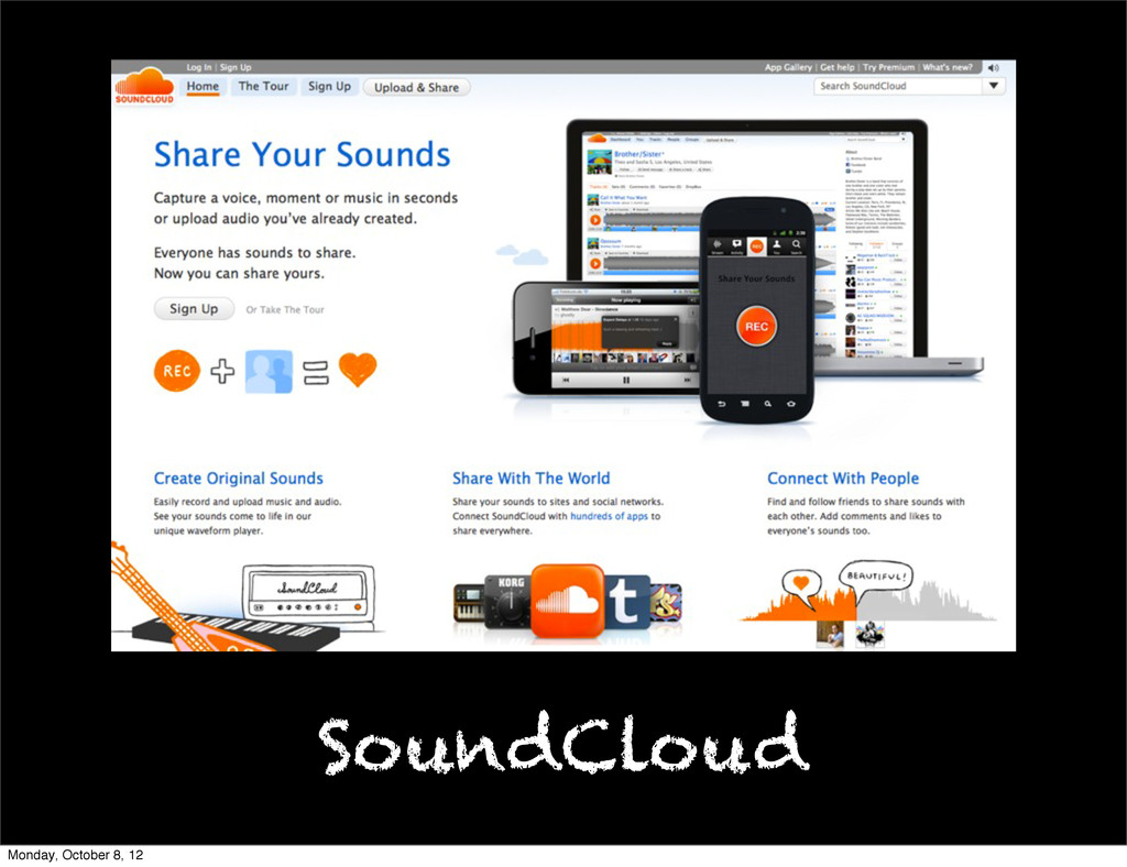 SoundCloud Monday, October 8, 12
