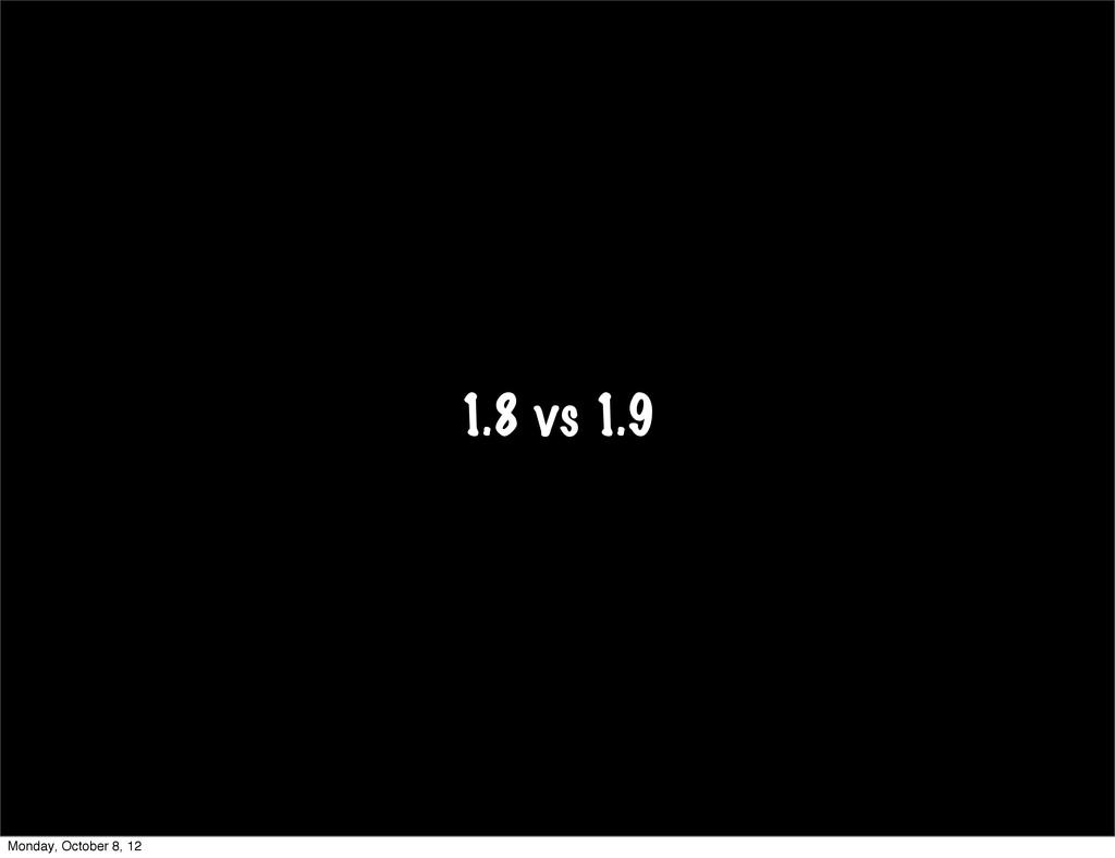 1.8 vs 1.9 Monday, October 8, 12